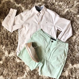Mint Seersucker AEO Men's Shorts